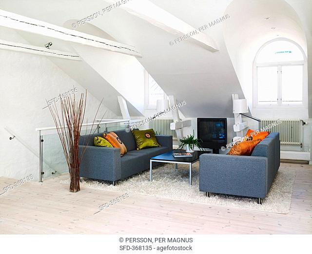 Sitting room in attic