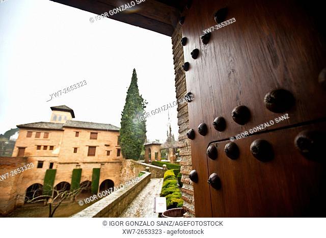 Nazari palaces, Alhambra in Granada (Granada, Spain, Andalusia, Europe)