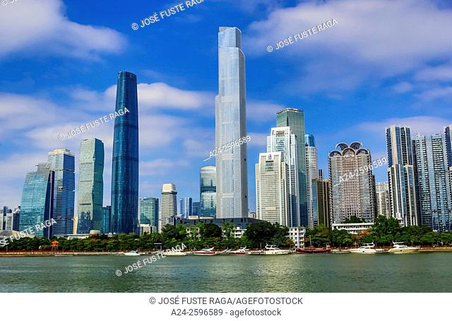 China, Guangdong Province, Guangzhou City, Wuyan New Town,IFC Bldg. and East Tower
