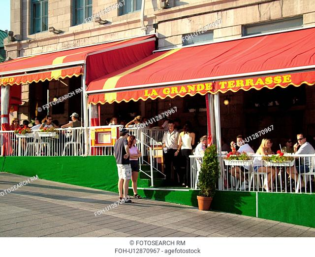 Montreal, Canada, QC, Quebec, Old Port, Old Montreal, Place Jacques Cartier, restaurants