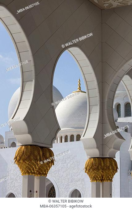 UAE, Abu Dhabi, Sheikh Zayed bin Sultan Mosque, arches