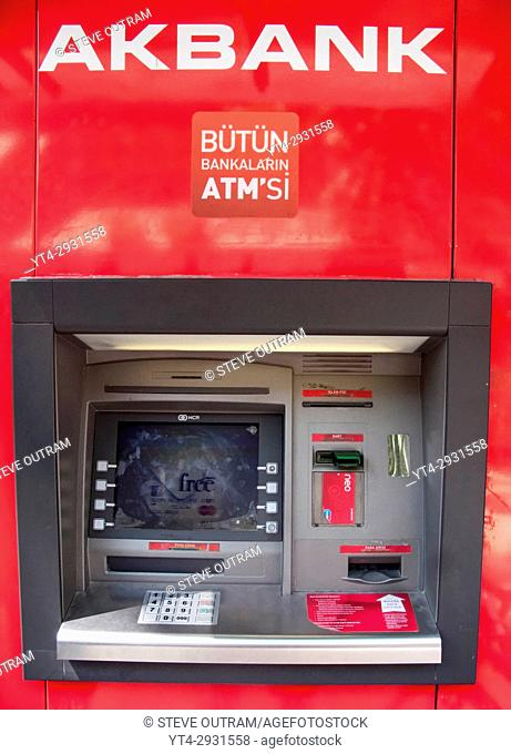 Turkish ATM Machine, Istanbul, Turkey