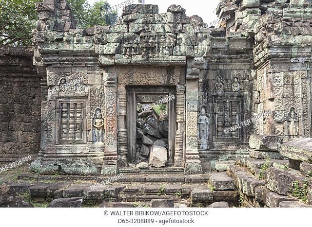 Cambodia, Angkor, Preah Khan Temple detail