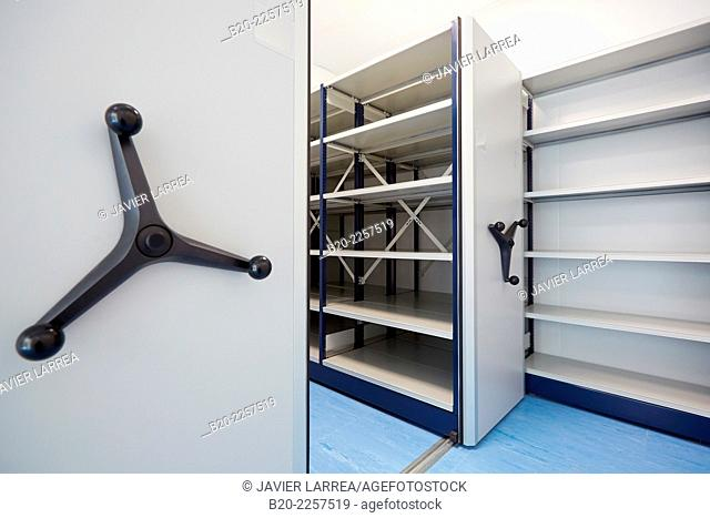 File cabinet. Bio pharmaceutical laboratory. Empty chemical laboratory. Barcelona. Spain