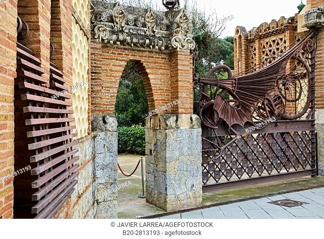 Guell Pavilions,1884-1887, By Antonio Gaudi, Barcelona, Catalonia, Spain