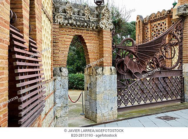 Guell Pavilions,1884-1887, By Antonio Gaudi, Barcelona, Catalonia, Spain