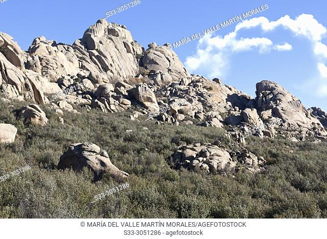 Cagas cliffs in The Pedriza Regional Park. Madrid. Spain