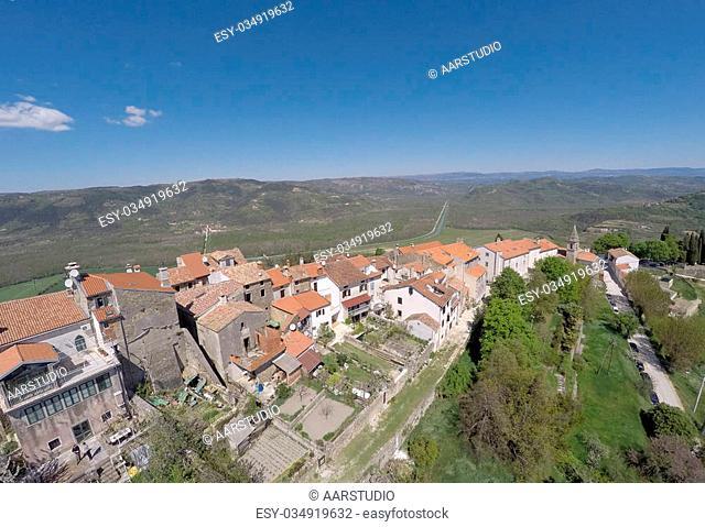 Part of historical village of Motovun in Croatia