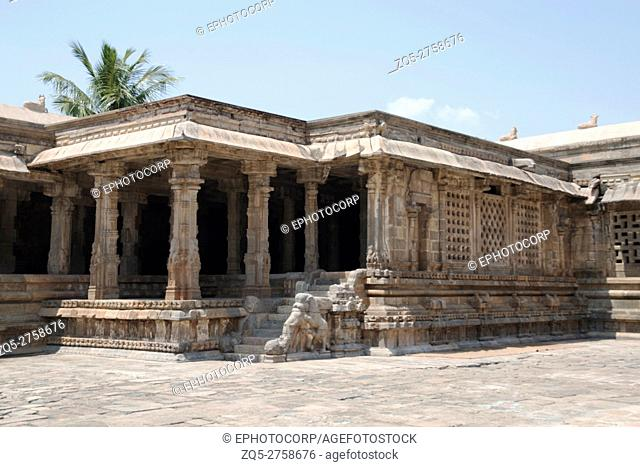 Mandapas in the north west corner, Airavatesvara Temple, Darasuram, Tamil Nadu, India