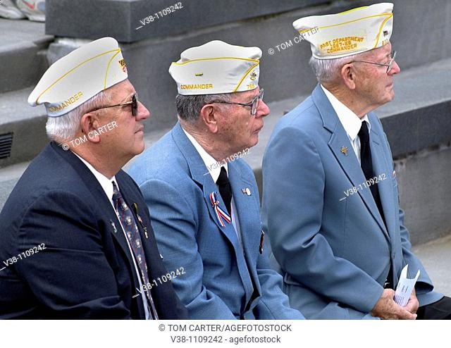 WWII veterans at D Day ceremony in Annapolis, Md
