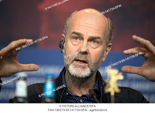 """19 February 2018, Berlin, Germany, Berlinale, Press Conference """"""""Utoya 22. Juli"""""""": Director Erik Poppe. The film is part of the 68th Berlinale competition"""