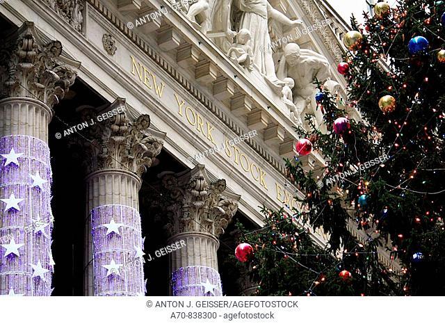 Christmas tree Wall Street New York City