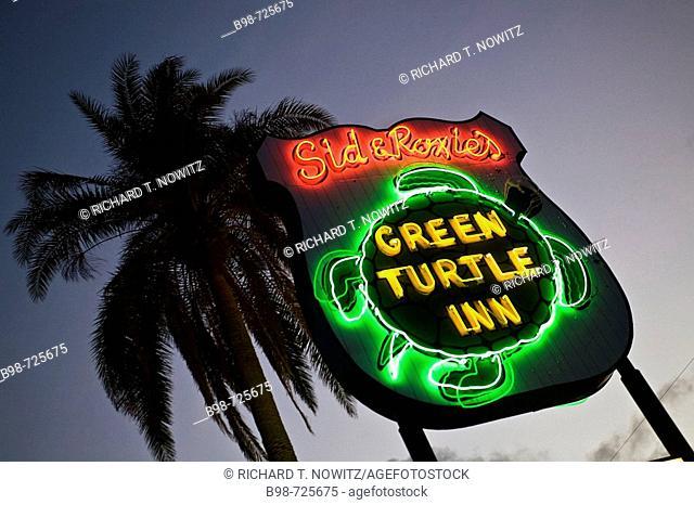 Islamorada, Florida Keys. Green Turtle Inn. USA