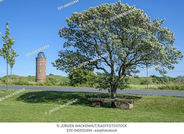 Landscape with former Marinepeilturm tower at Cape Arkona, Putgarten, Rügen, Mecklenburg-Vorpommern, Germany, Europe