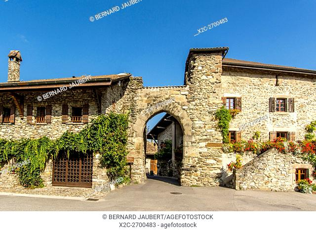 Front Gate. Yvoire. Labelled Les Plus Beaux Villages de France. Haute Savoie. France