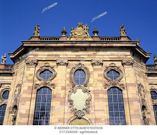 Germany. Saarbruecken, Saarbruecken-Alt-Saarbruecken, Saar, Saarland, Ludwig Church, evangelic church, baroque, facade, partial view