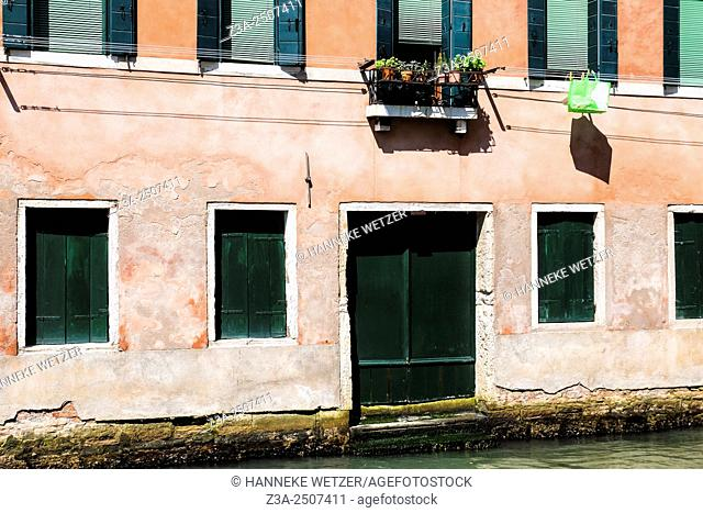 Buildings at a canal in Venice, Italy, Europe
