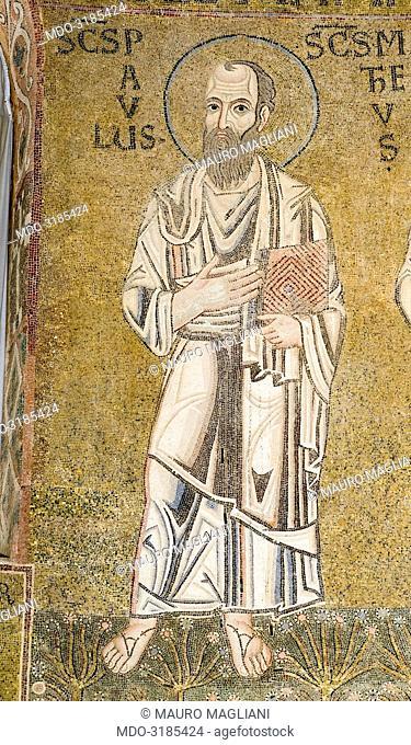 Apsidal mosaic (Decorazione musiva absidale), 11th Century, mosaic