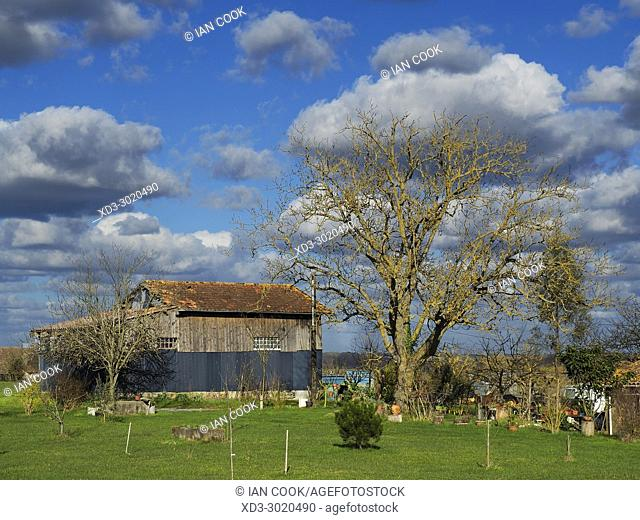 farm building at Armillac, Lot-et-Garonne Department,Aquitaine, France