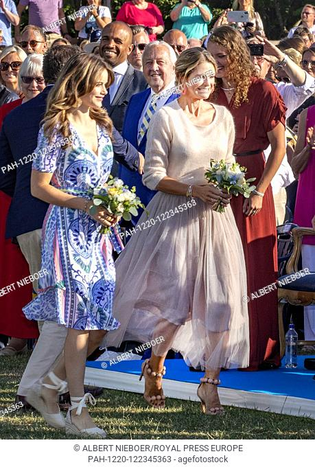 Princess Madeleine and Princess Sofia of Sweden at the Borgholm Sports Arena in Borgholm, on July 14, 2019, .to attend the celebration of Crown Princess...