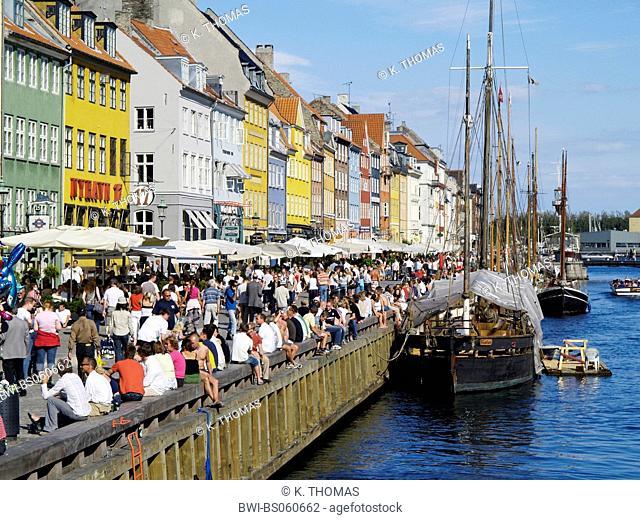 Copenhagen, Nyhavn, Denmark, Seeland, Kopenhagen
