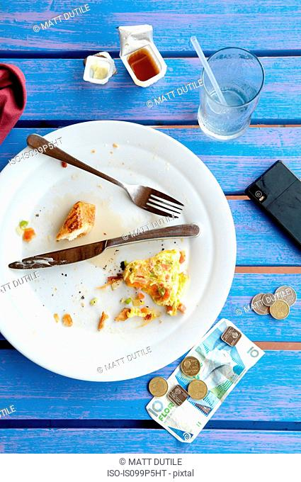 Empty breakfast plate