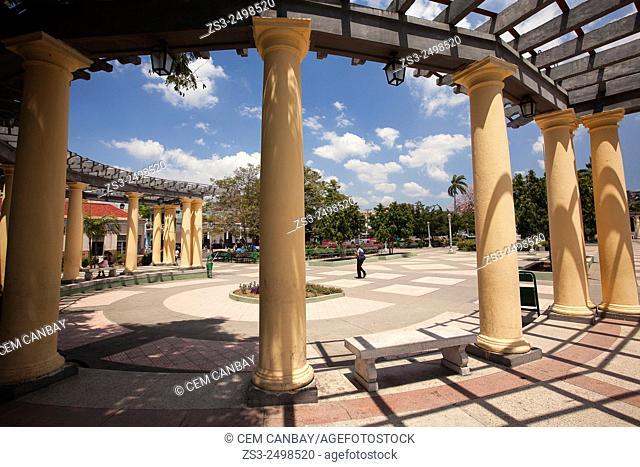 Pavilion at the park in Plaza de Marte, Santiago de Cuba, Cuba, West Indies, Central America
