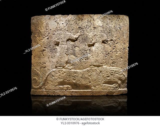 Hittite relief sculpted orthostat stone panel of Long Wall Limestone, Karkamıs, (Kargamıs), Carchemish (Karkemish), 900-700 B. C