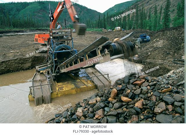 Y6148, Fortymile Placers, Modern Day Gold, Clinton Creek, Dawson City, YT