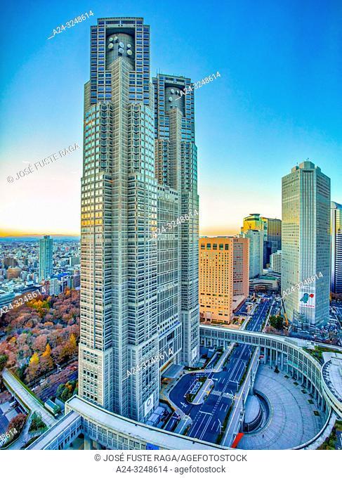Japan, Tokyo City, Shinjuku ward, Tokyo City Hall Bldg