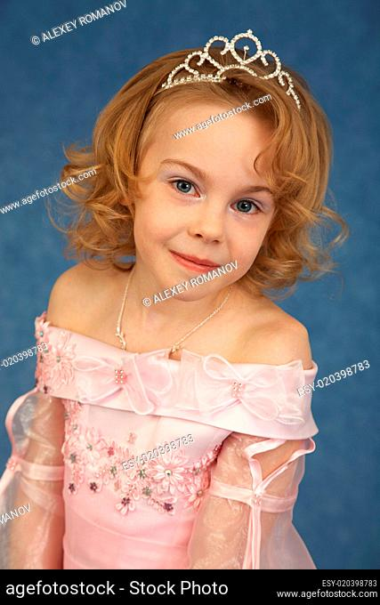 Portrait of girl in pink dress
