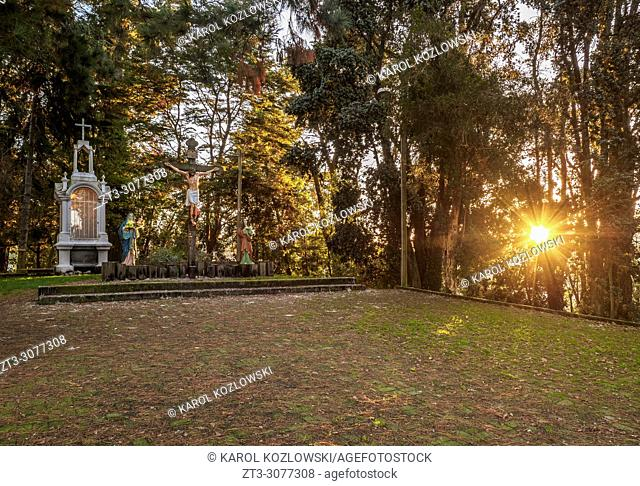 Calvario Hill at sunset, Puerto Varas, Llanquihue Province, Los Lagos Region, Chile