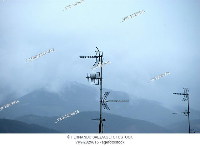 cloudy landscape with mountains