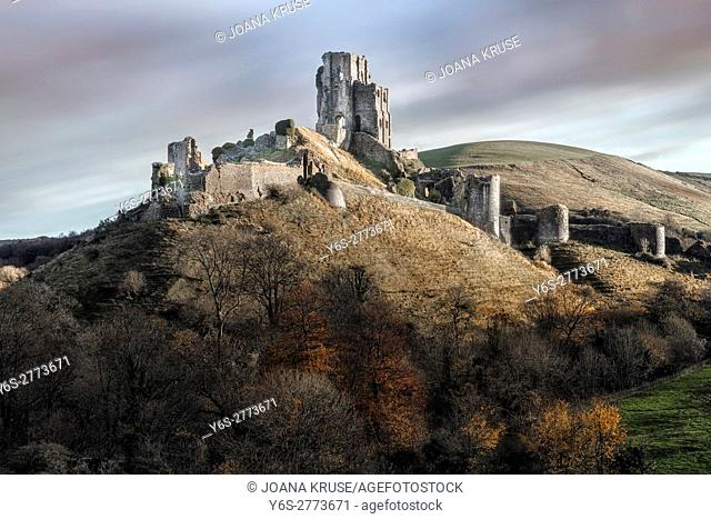 Corfe Castle, Dorset, England, UK