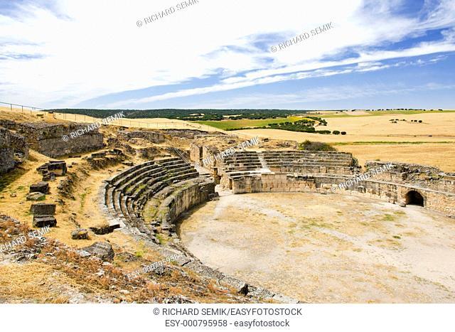 Roman Amphitheatre of Segobriga, Saelices, Castile-La Mancha, Spain