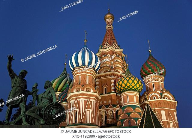 evening in Moscow's Red Square  St  Basil's Cathedral