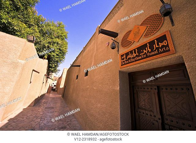 Art center, Bur Dubai, Dubai, United Arab Emirates, Al Bastakiya District of historic Arabic buildings