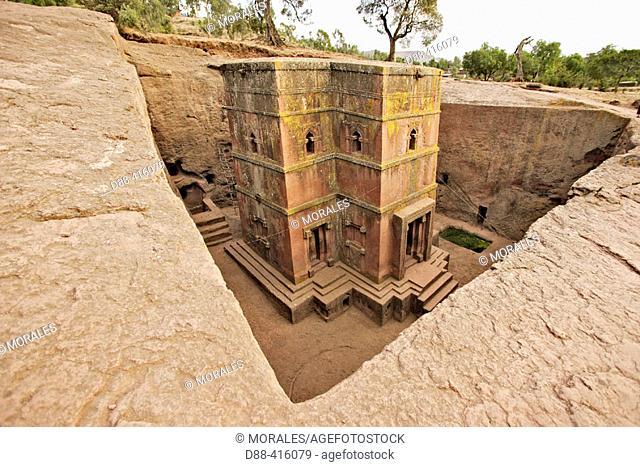 Bet Giyorgis (Church of St. George), Lalibela. Province of Wollo, Ethiopia