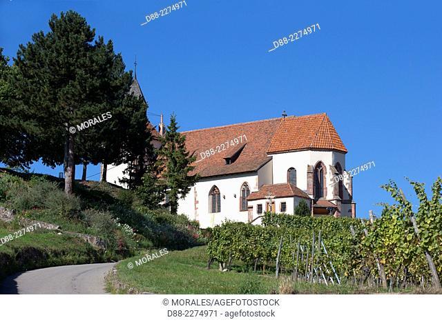 France,Alsace,Bas-Rhin, Wine Route,Dambach the city,St. Sebastian Chapel