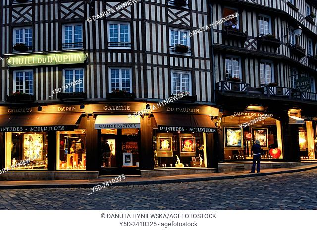 Honfleur by night, Normandy, France