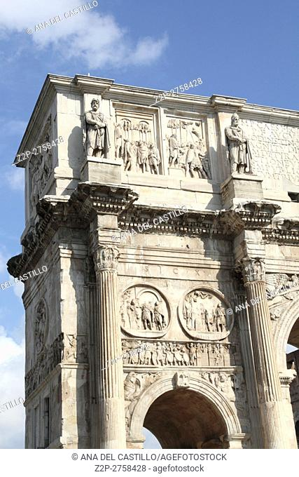 The Arch of Septimius Severus in the Forum of Rome