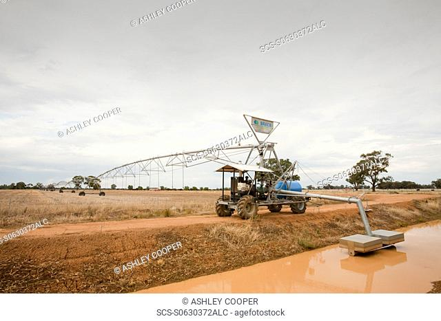 An irrigation ditch near Echuca, Victoria, Australia Victoria has been gripped by an unprecedented drought for the last 10 years Farming has suffered greatly...