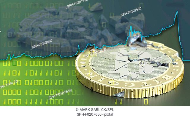 Bitcoin crash, illustration