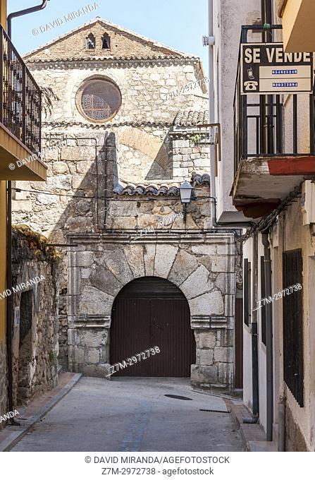 Iglesia de San Juan Bautista. Mombeltrán. Barranco de las cinco villas. Valle del Tiétar. Provincia de Ávila, Castile-Leon, Spain