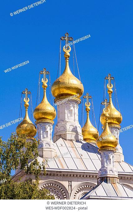 Switzerland, Geneva, Russian church with golden dome