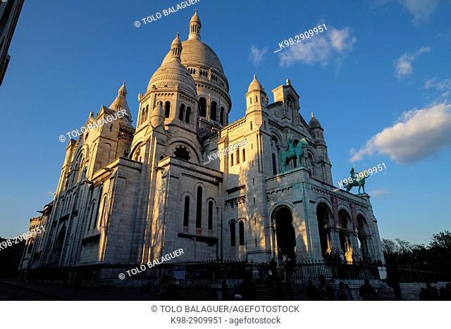 Sacré Cœur Basilica, Montmartre, Paris, France,Western Europe