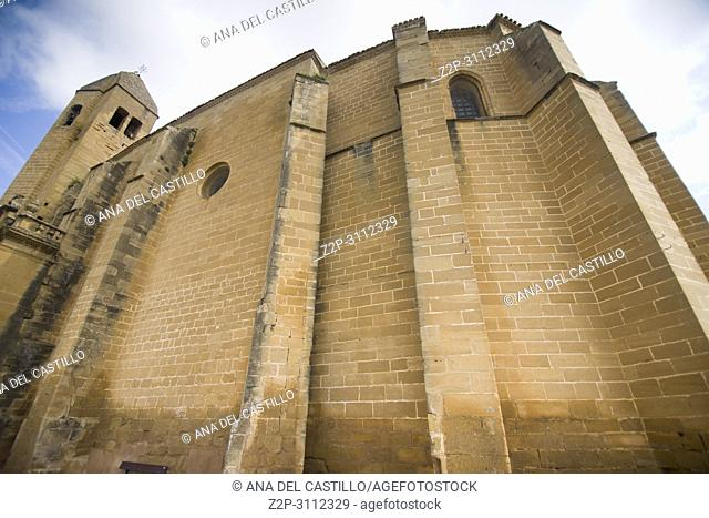San Vicente de la Sonsierra in La Rioja Spain Church at the castle