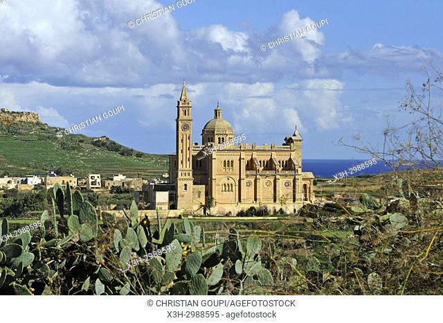 Basilica of the National Shrine of the Blessed Virgin of Ta' Pinu, Gharb, Gozo Island, Malta, Mediterranean Sea, Southern Europe