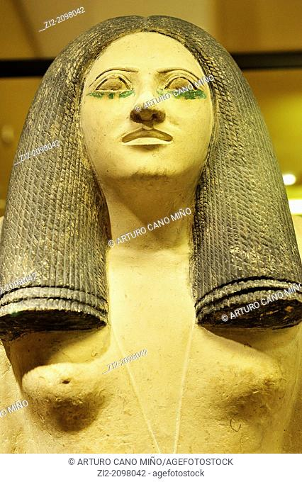 Egyptian civilization, Lady Nesa, Dynasty III, Louvre Museum, Paris, France