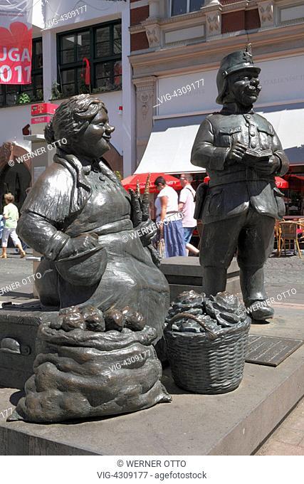 D-Koblenz, Rhine, Moselle, Maifeld, Eifel, Hunsrueck, Westerwald, Rhineland-Palatinate, old town, Muenzplatz, city original, Koblenz original, market woman